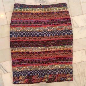 Colorful tweed style Trina Turk skirt